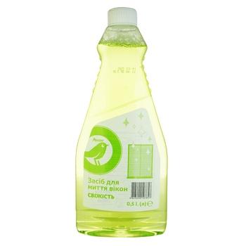 Средство Ашан для мытья окон свежесть 500мл - купить, цены на Ашан - фото 1