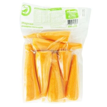Auchan carrots whole peeled 500g - buy, prices for Auchan - image 1
