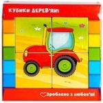 Кубики Vladi Toys Транспорт укр