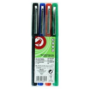 Ручки Auchan цветные в наборе 4шт
