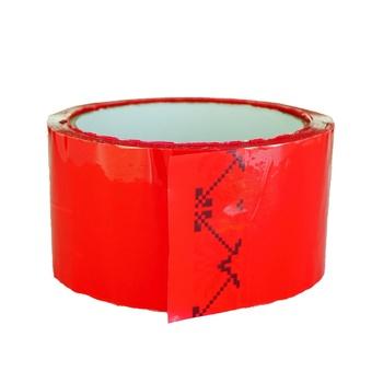 Лента клейкая красная 48ммх50м - купить, цены на Ашан - фото 2