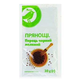 Перец черный Ашан Кухарский молотый 10г