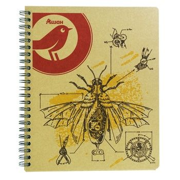 Notebook Auchan Auchan checkered 80pages 180g - buy, prices for Auchan - image 1