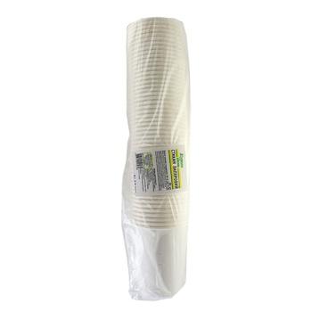 Склянка Кожен день паперова одноразова біла 250мл 50шт - купити, ціни на Ашан - фото 1