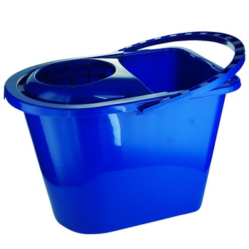 York Rectangular Bucket With Squeeze 14L - buy, prices for Auchan - photo 2