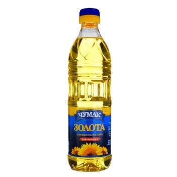 Масло Чумак Золотое подсолнечное рафинированное 500мл - купить, цены на Восторг - фото 1