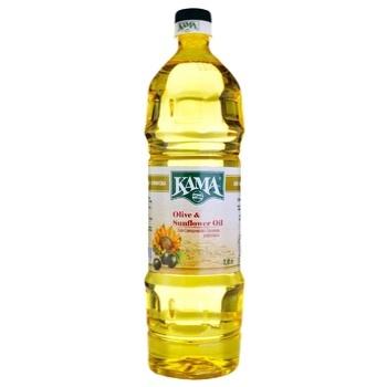 Олія Кама соняшниково-оливкова рафінована 1л - купити, ціни на Ашан - фото 1