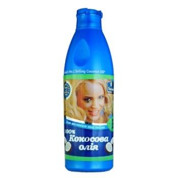 Масло кокосовое Parachute для волос и тела 200мл - купить, цены на Ашан - фото 1