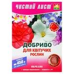 Удобрение Чистый Лист кристаллическое для цветущих растений 300г