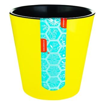Вазон Алеана Деко желтый 13см - купить, цены на Ашан - фото 1