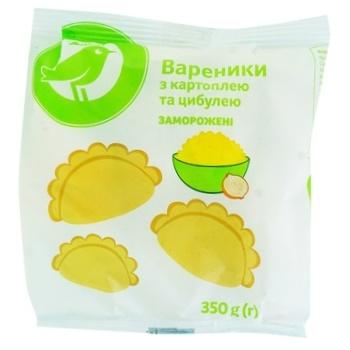Вареники Каждый день с картофелем и луком замороженные 350г - купить, цены на Ашан - фото 1