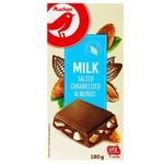 Шоколад Ашан молочный с миндалем изюмом и фундуком 180г
