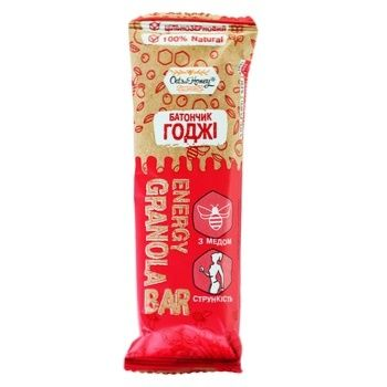 Candy bar Oats&honey grains with goji berries 40g Ukraine - buy, prices for MegaMarket - image 1