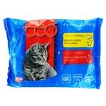 Корм влажный Teo для котов с говядиной 2шт+с курицей 2шт 400г