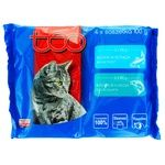 Корм влажный Teo для кошек с лососем 2шт+с форелью 2шт 400г
