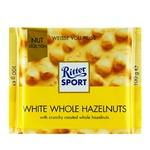 Шоколад Ritter Sport білий з цільними лісовими горіхами 100г