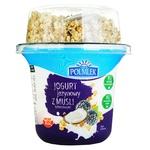 Йогурт Polmlek с ежевикой кокосом и мюслями 210г