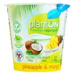 Йогурт Planton питний веганський з ананасом і манго 160г