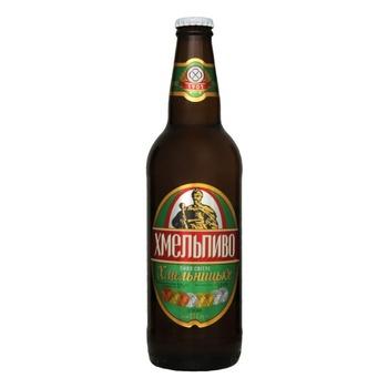Пиво Хмельпиво Хмельницкое светлое 4,5% 0,5л - купить, цены на Фуршет - фото 3