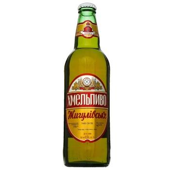 Khmelpyvo Zhigulivske Light Beer 4,2% 0,5l - buy, prices for Furshet - photo 1