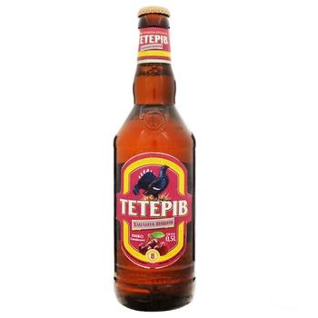 Пиво ППБ Тетерев Хмельная вишня полутемное 8% 0,5л - купить, цены на Фуршет - фото 1