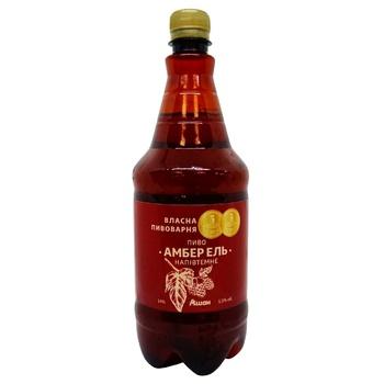 Auchan Amber El Semi-dark Beer 5,5% 1l
