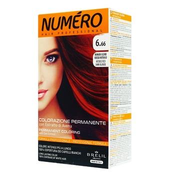 Краска для волос Numero 10.21 Темный насыщено красный блонд