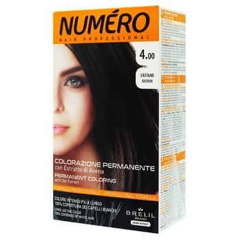 Краска для волос Brelil Professional Numero 4.00 Brown Каштан 140мл