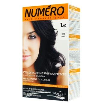 Краска для волос Brelil Professional Numero 1.00 Black Черный 140мл
