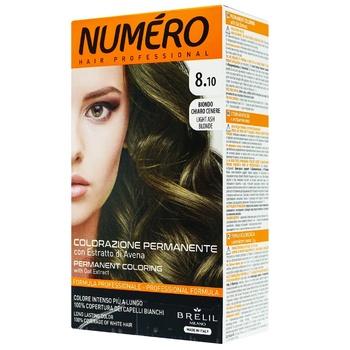Краска для волос Numero 8.10 Светлый пепельный блонд