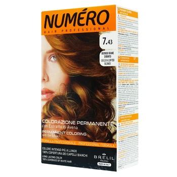 Фарба для волосся Numero 7.43 Мідно-золотавий блонд - купити, ціни на Ашан - фото 1