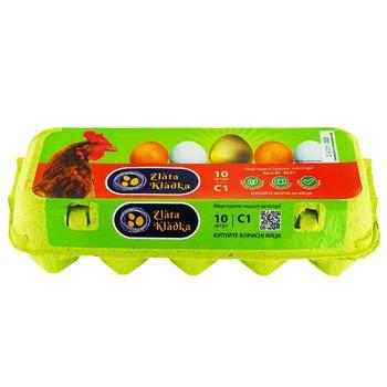 Яйца куриные Zlata kladka С1 10шт - купить, цены на Ашан - фото 1