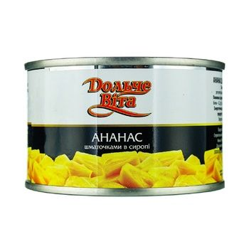 Pineapple chunks Dolce Vita in syrup 228g - buy, prices for Novus - image 1