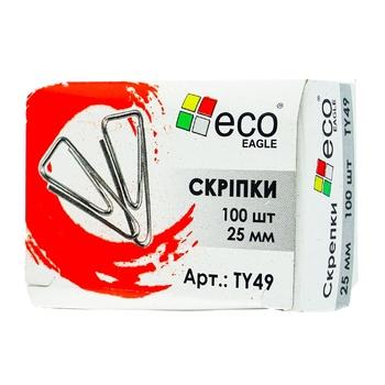 Скрiпки Eco Eagle 25мм 100шт - купити, ціни на Ашан - фото 1