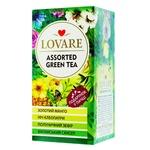 Чай зелений Lovare асорті в пакетиках 4 види 6шт*2г