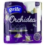 Полотенца бумажные Grite Orchidea Gold трехслойные 65отрывов 2шт