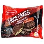 Хлебцы Жменька рисовые глазированные в черном шоколаде 2шт 30г