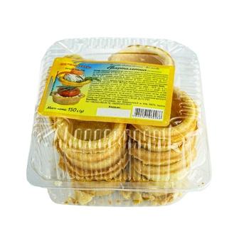 Печенье песочное Ольховой Тарталетки Ромашка 150г - купить, цены на МегаМаркет - фото 1