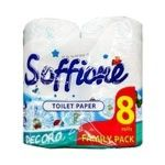 Soffione Decoro Family pack Two-layer Toilet Paper 8pcs