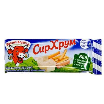 Сыр плавленый Веселая Коровка с хлнбными палочками 45% 35г - купить, цены на Фуршет - фото 2