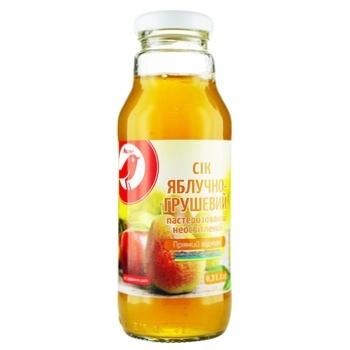 Сок Ашан яблочно-грушевый 300мл - купить, цены на Ашан - фото 1