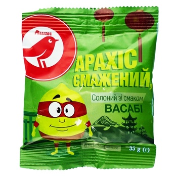 Auchan Roasted Salted Peanuts with Wasabi Flavor 35g - buy, prices for Auchan - photo 1