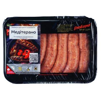 Колбаски Глобино Медитерано для гриля и жарки 600г - купить, цены на Ашан - фото 1
