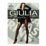 Giulia Sketch Nero Women's Tights 20 den Size 3