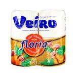 Veiro Floria Blooming Orange Two-layer Toilet Paper 4pcs