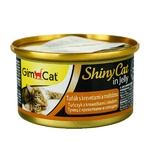 GimCat ShinyCat Wet Food with Tuna Shrimp and Malt for Cats 70g - buy, prices for Auchan - photo 1