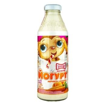 Yogurt Zlagoda Malyatko Apricot-Carrot for 8+months babies 2.8% 200g - buy, prices for CityMarket - photo 3
