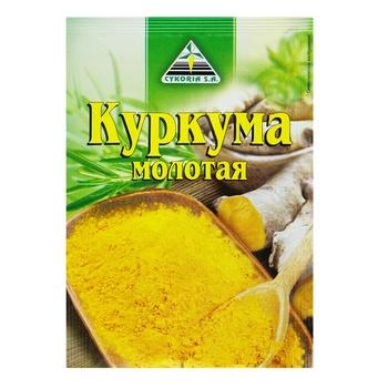 Приправа Cykoria Sa Куркума молотая 15г - купить, цены на Ашан - фото 1