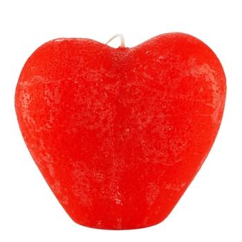Свічка Pragnis серце червоне - купити, ціни на Ашан - фото 1