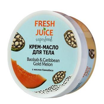 Крем-масло Fresh Juice Superfood Baobab and Caribbean Gold Melon для тела 225мл